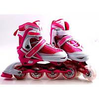Ролики Caroman Sport Pink, розмір 27-31, фото 1