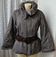 Куртка женская теплая демисезонная с широким поясом бренд Zara р.50 4570