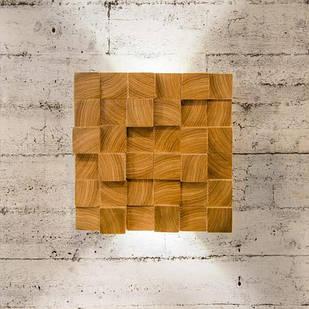 """Настінний світильник з дерева Vela """"Blocks"""" 6Вт 4000К ( Ясен )"""