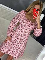 Весняне жіноче плаття сцветочным принтом (42,44,46,48, 5 кольору), фото 1