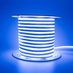 Стрічка неонова синя AVT 220V smd2835 120лед 7Вт герметична 1м