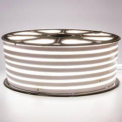 Стрічка неонова біла 220V smd2835 120лед 7Вт герметична 1м