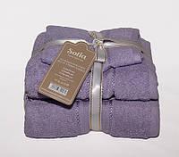 ТМ TAG Набор полотенец Sofia цвет: сиреневый