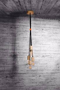 Підвісний світильник з дерева Vela Cluster 5х7Вт 4800 Лм (Ясен)