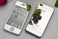 Защитное стекло для iPhone 4/4S (перед и зад) - HPG Mirror Tempered glass 0.3 mm (серебристый)