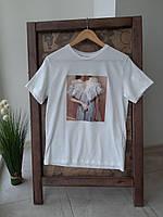 Женская трикотажная футболка S M L