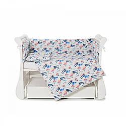 Бампер Twins Comfort line 2054-С-056 Самолетики голубой(Защита в кроватку)