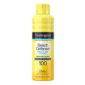 Солнцезащитный спрей Neutrogena Beach Defense Water + Sun Protection Spray Broad Spectrum SPF 100 184 г