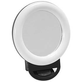 Светодиодная кольцевая лампа селфи кольцо HR-20 Black
