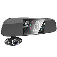 """Зеркало-регистратор Anytek B33 HD 1080P видеорегистратор G-sensor 5"""" экран 2 камеры обзор 150 градусов"""