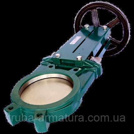 Задвижка ножевая (шиберная) межфланцевая Tecofi VG 3400-001NI Ду 400, фото 2