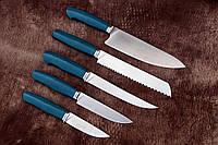 """Набор кухонных ножей ручной работы """"Aquamarine-5"""", N690"""