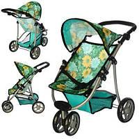Детская Коляска, игрушечная коляска для куклы Melogo 9671 зеленая в наличии