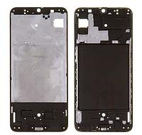 Рамка кріплення дисплея для Samsung A705 Galaxy A70, чорна