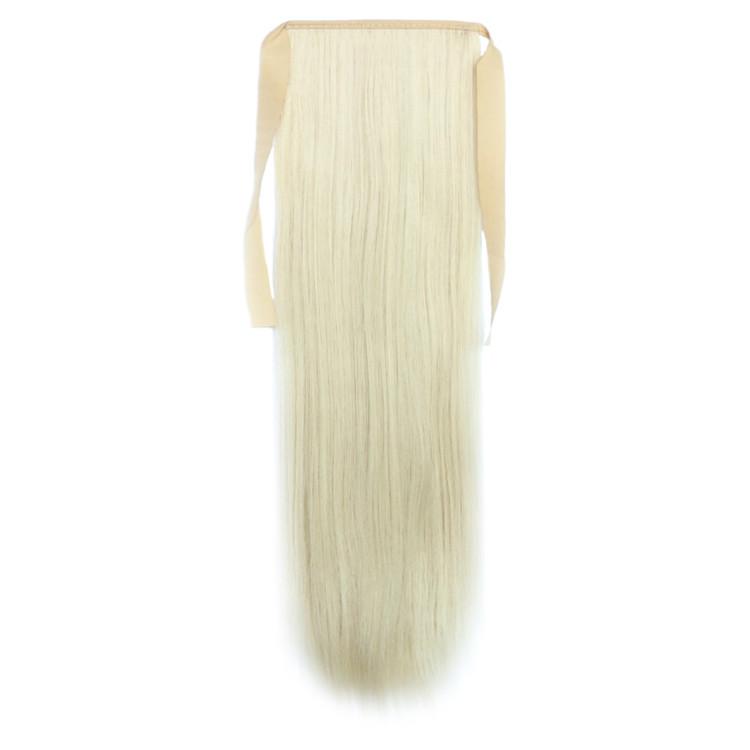 Искусственный накладной хвост на ленте. Цвет #60 Холодный Блонд