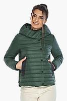 Женская нефритовая куртка на змейке осенне-весенняя модель 64150