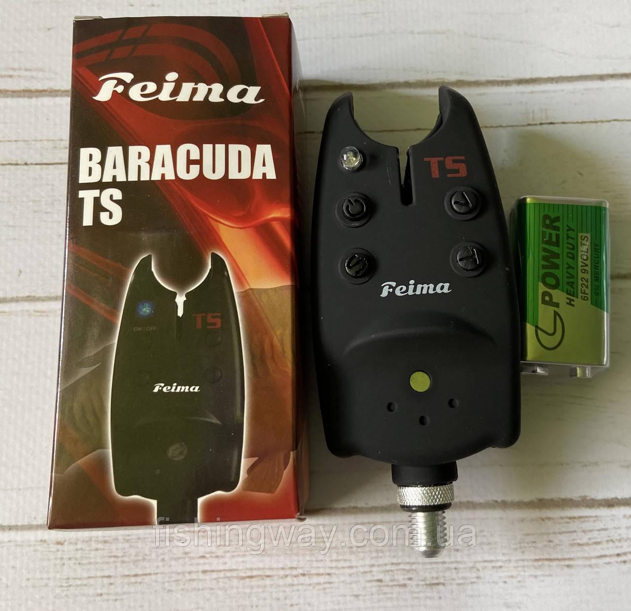 Сигнализатор поклёвки Feima Baracuda c кроной 9v