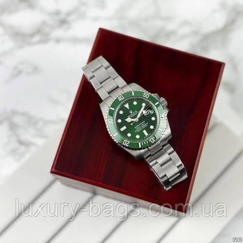 Часы Мужские Ролекс Rolex Submariner AAA Date Silver-Green