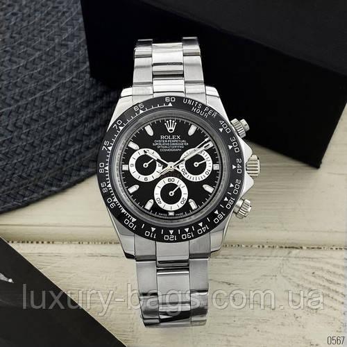 Часы наручные Rolex Daytona Metal Silver-Black-Black