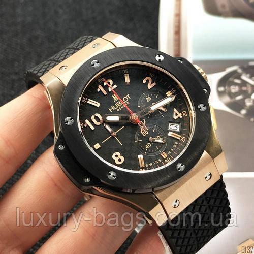 Часы наручные Hubl0t Chronograph Ceramica Black-Gold-Black 5829