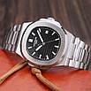 Годинники наручні Patek Philippe Nautilus Silver-Black, фото 3
