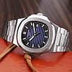 Годинники наручні Patek Philippe Nautilus Silver-Black, фото 4