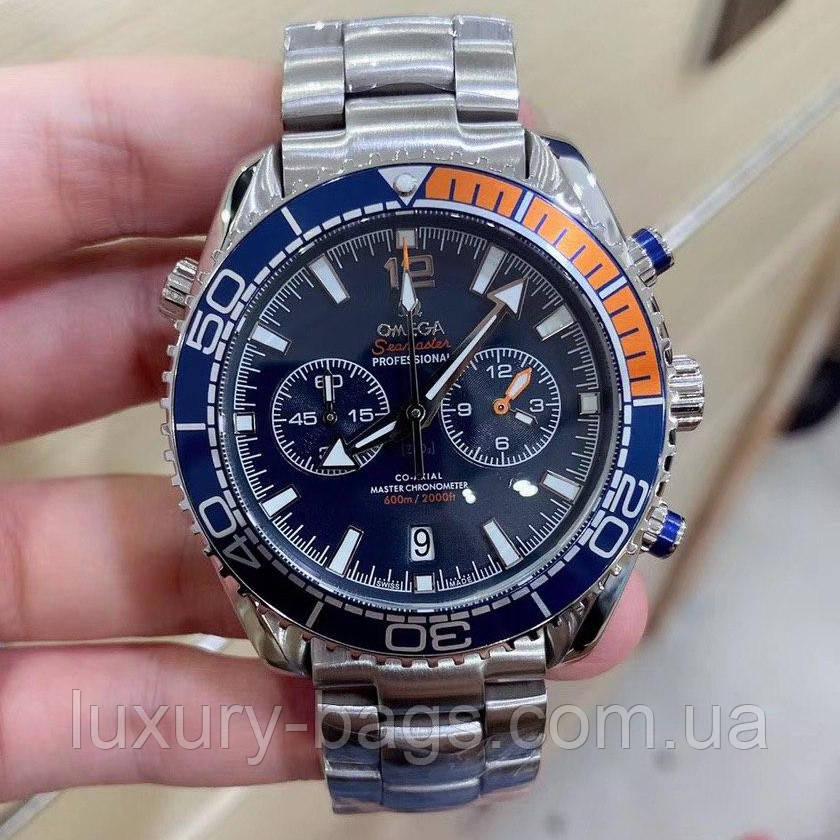 Чоловічі годинники Omega Professional Silver-Blue-Orange