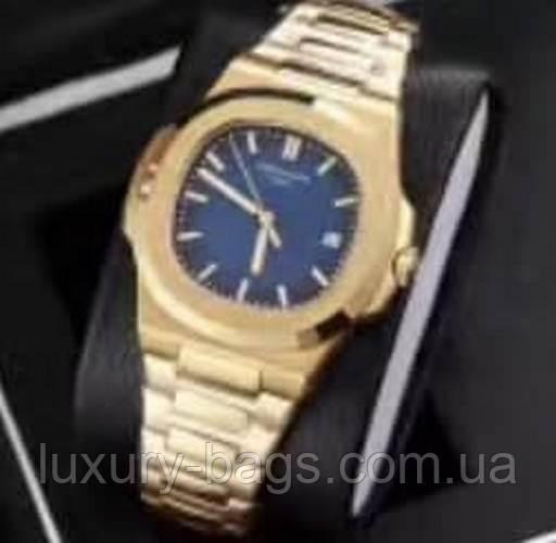 Часы мужские Patek Philippe Nautilus Gold-Blue
