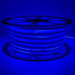Стрічка неонова синя 220V smd2835 120лед 7Вт герметична 1м
