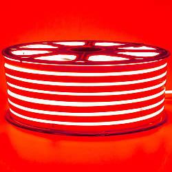 Стрічка неонова червона 220V smd2835 120лед 7Вт герметична 1м
