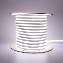 Стрічка неонова нейтральна біла AVT 220V smd2835 120лед 7Вт герметична 1м