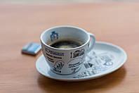 """Подарочный набор """"Чашка с блюдцем I ❤️ UMAN"""""""