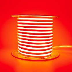 Стрічка неонова червона AVT 220V smd2835 120лед 7Вт герметична 1м