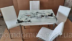 """Комплект кухонной мебели """"Lilli"""" 110*70 см (стол ДСП, каленное стекло) Mobilgen, Турция"""