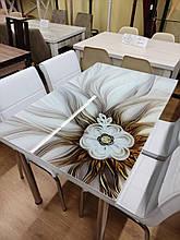"""Комплект кухонной мебели """"Брош"""" 110*70 см (стол ДСП, каленное стекло) Mobilgen, Турция"""