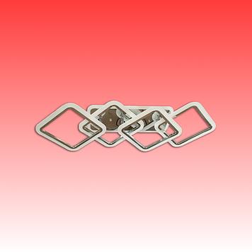 Люстра MX2400/2+2LC BK LED 3color dimmer (черный) 100W