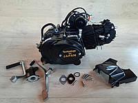 Двигатель на мопед 110 куб. полу-автомат (черный) на Дельту, Альфу, Актив.