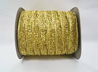 Блестящая лента 1см 23 метра декоративная золотая