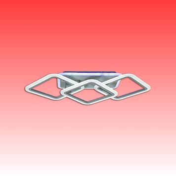 Люстра MX2400/2+1LC CF LED 3color dimmer (Коричневый) 70W