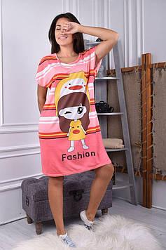 Женская ночная рубашка пудровая код П253