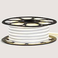 Стрічка неонова біла 12V AVT - smd2835 120LED/m 6Вт/m 6х12мм IP65 силікон 1м, фото 1
