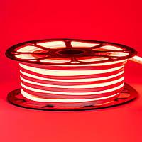 Лента неоновая красная 12V smd2835 120лед 6Вт 8*16 PVC герметичная 1м, фото 1