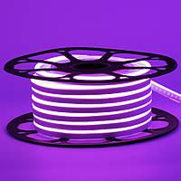 Лента неоновая фиолетовая 12V AVT-smd2835 120LED/m 6В/mт 6x12мм IP65 силикон 1м, фото 1