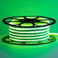 Стрічка неонова зелена AVT-1 220V smd2835 120лед 7Вт герметична 1м, фото 1