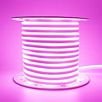 Лента неоновая розовая AVT 220V smd2835 120лед 7Вт герметичная 1м, фото 1
