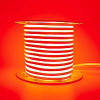 Стрічка неонова червона AVT 220V smd2835 120лед 7Вт герметична 1м, фото 1