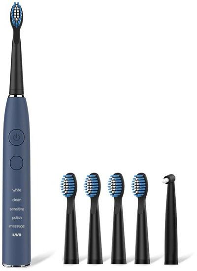 Электрическая зубная щетка Seago SG-575 Blue Звуковая