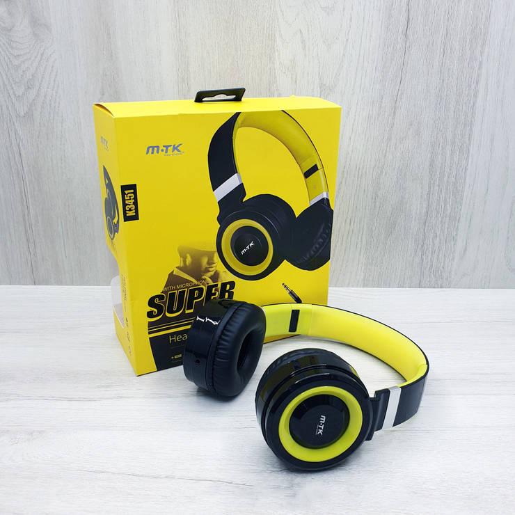 Дротові навушники MTK SUPER BASS K3451 (жовті), фото 2