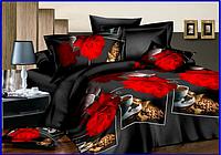 Семейный комплект постельного белья, из бязи Gold Ранфорс хлопок 100% качественный практичный