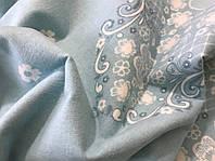Фланелева (байкова) простирадло на гумці, Блакитна, будь-які розміри, з наволочк.і без,турецька тканина